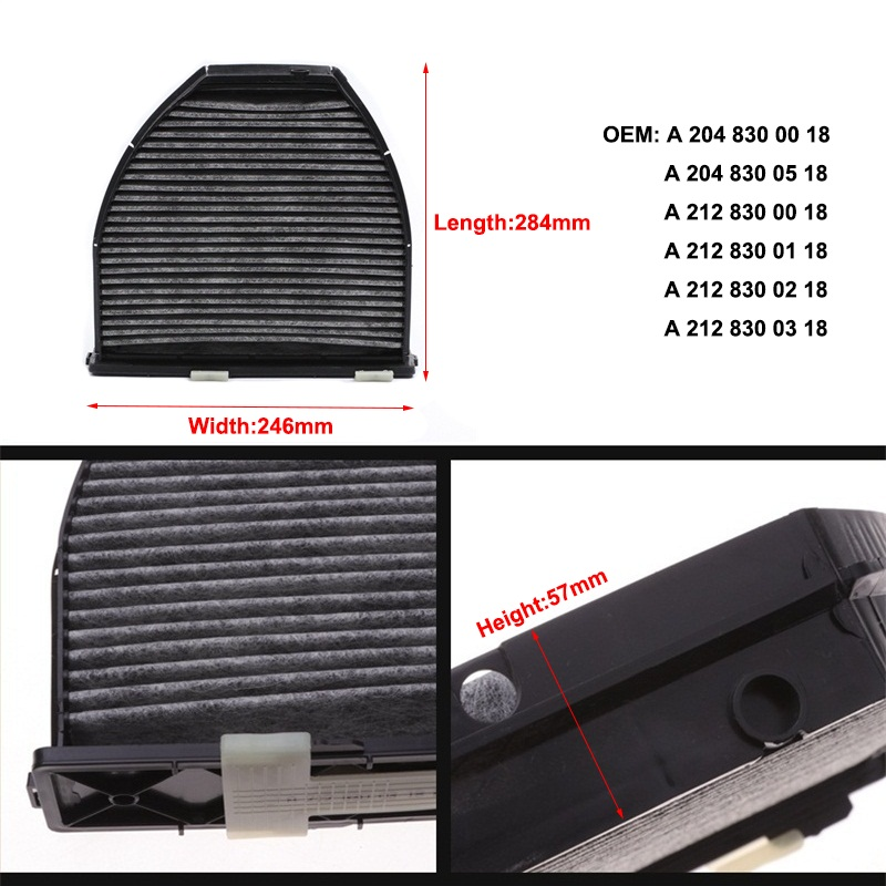 Image 5 - Cabin Filter A2128300038 1Pcs For Mercedes Benz C CLASS W204 S204 2007 2014 C204 2011 19 C180 C200 C250 C280 C320 C350 C63 Model-in Cabin Filter from Automobiles & Motorcycles