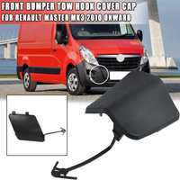 Black Front Bumper Tow Hook Cover Cap FOR RENAULT MASTER MK3 2010-ONWARDS FOR NISSAN NV400 2010 ONWARDS #511800537R