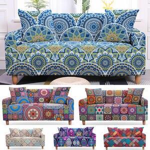 Sofa-Covers Sofa-Protector Flower Elastic Living-Room Mandala Bohemian 2/3-Seater 3D