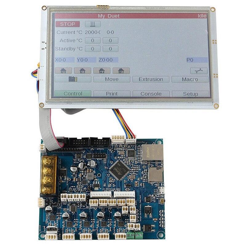 Für Klon Duet 2 Ethernet Erweiterte 32 Bit Elektronik Motherboard mit 7 Zoll PanelDue 5I Integrierte Farbe Drücken Screen Control