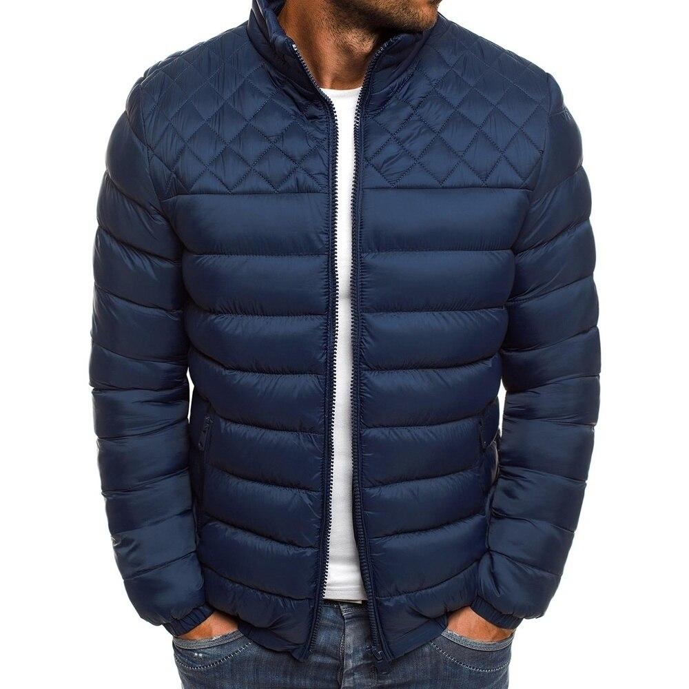 SHUJIN 2019 Fashion Winter Jacket Men Couples Slim Down Coats Cotton Hooded Solid Black Coats Parkas Innrech Market.com