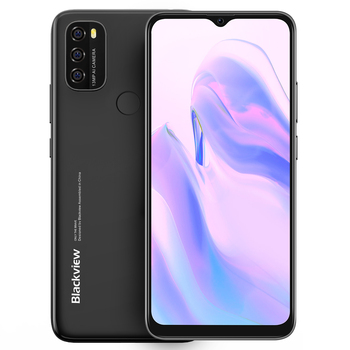 Blackview A70 3GB+32GB 5380mAh Android 11.0 Octa Core Smartphone 6.51'' HD+ 13MP Rear Camera Face ID Fingerprint 4G Mobile Phone 6