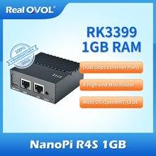 Friendlyelec Nanopi R4S 1GB podwójne porty Ethernet Gbps wsparcie Openwrt Lede V2RAY System Linux Rockchip RK3399 rozpoznawanie twarzy
