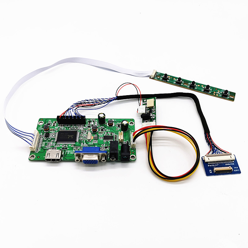 4K HDMI LVDS Controller Board For IPad 3 4 9.7' LP097QX1 SPA1 SPAV SPC1 2048x1536 EDP Signal 4 Lanes 51 Pins LCD Display Panel