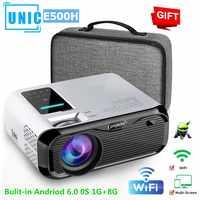 Mini Proyector E500H full-hd 1080P WIFI conectar teléfono 1280x800P resolución Beamer 6000 lúmenes 4K Proyector Home Theater