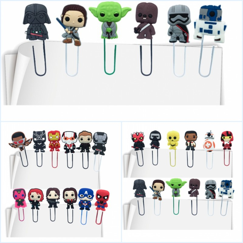 50pcs Incredibles Avenger Game Of Thrones Cute Cartoon Bookmarks For Kids Paper Clip School Office Stationery Party Gift