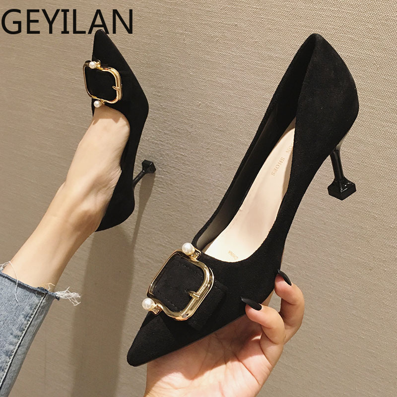 pointed heels <font><b>sexy</b></font> <font><b>shoes</b></font> office <font><b>shoes</b></font> women stiletto <font><b>fetish</b></font> high heels pumps women <font><b>shoes</b></font> luxury heels sapato feminino tacones image