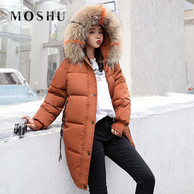 Parka   Women Fur Hooded Jacket Female Coat Plus Size Wnter Jacket Women Casual Thick Coat Long Padded   Parka   Mujer Casaco Feminino