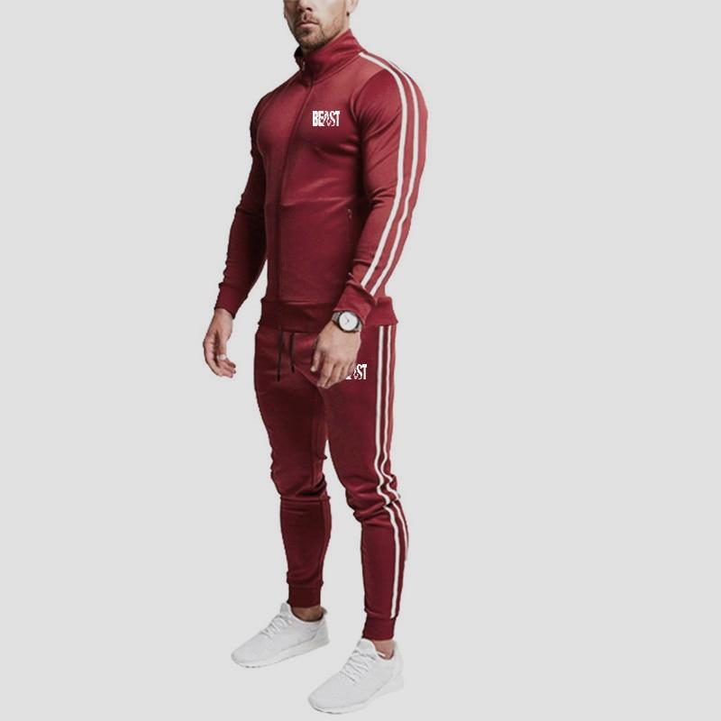 Men Brand New Sets Fashion Autumn Spring Sporting Suit Sweatshirt +Sweatpants Mens Clothing 2 Pieces Sets Slim Tracksuit
