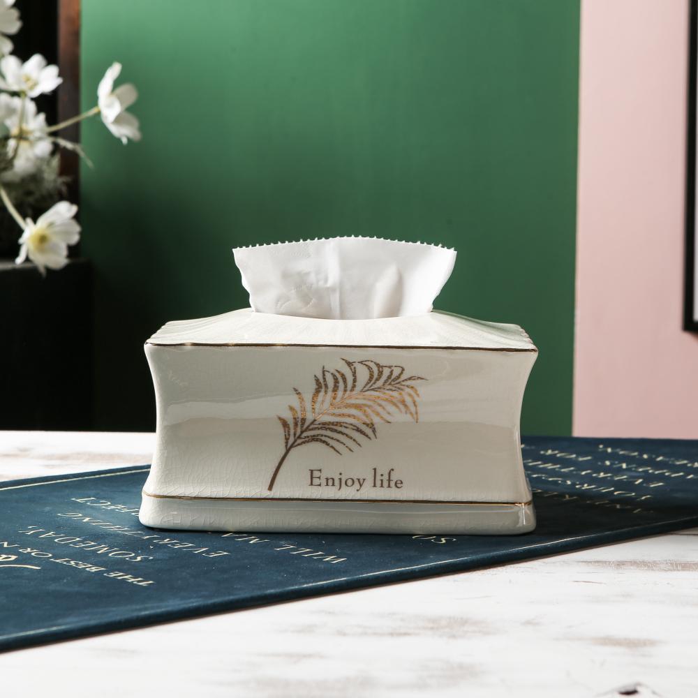 Коробка для салфеток из керамики европейская настольная салфетка