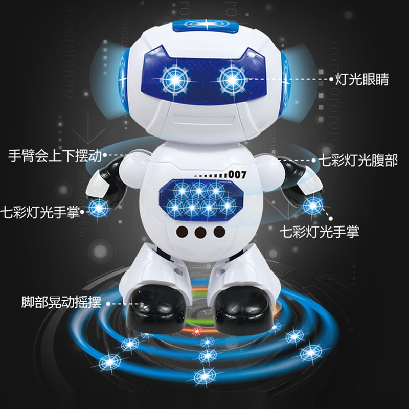 Dynamic Smart Space Dancing Rotating Robot Dancer Music Shining Children GIRL'S And BOY'S Toy Gift