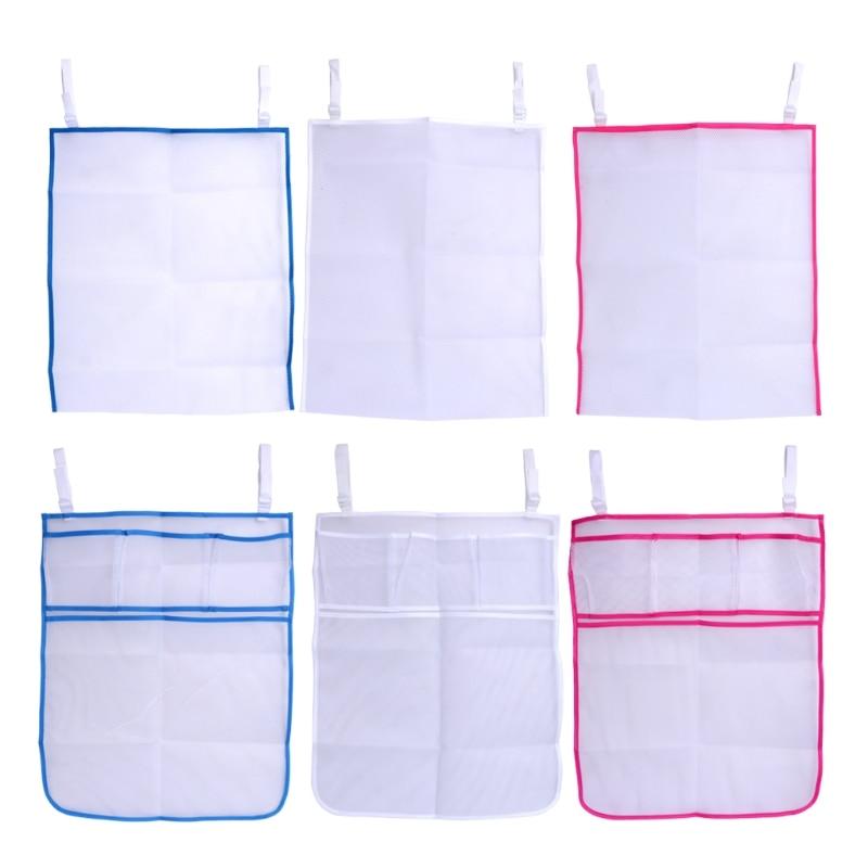 2018  Baby Bed Hanging Storage Bag Crib Organizer Toy Diaper Pocket For Cradle Bedding  JUN10_17