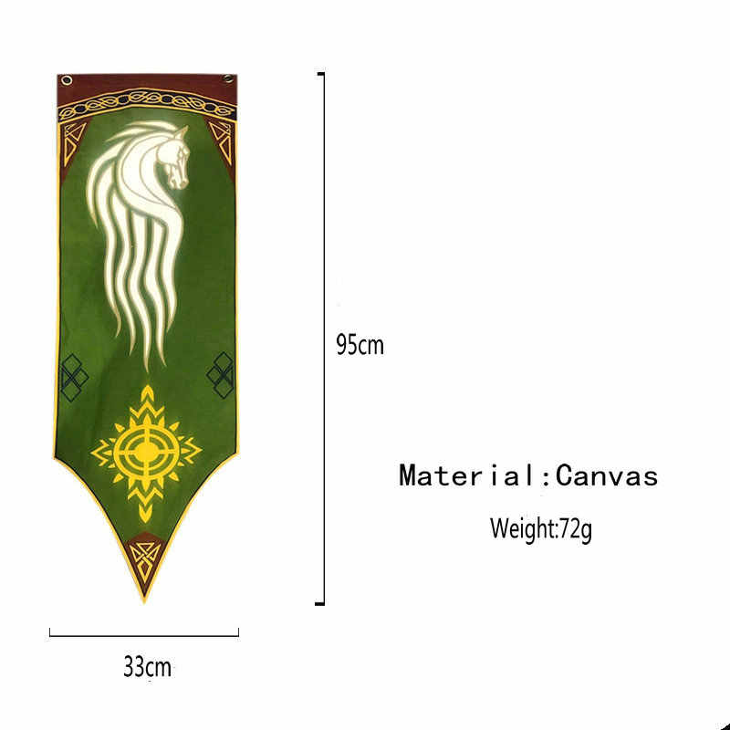 Lord of the Rings Banner Flag Rohan Wall Hanging 40x100cm Home School Decoration