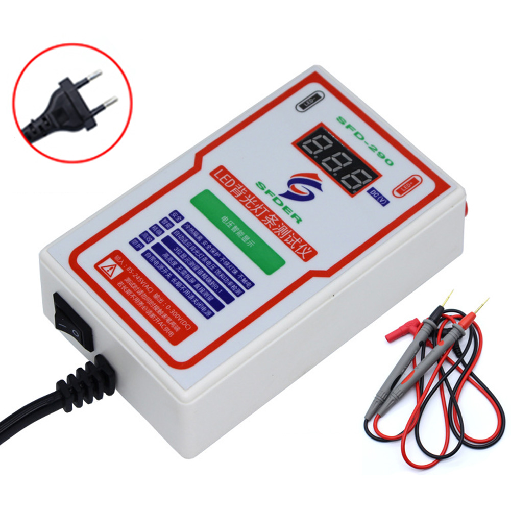 0-300V Output Measuring Portable Backlight Tester Digital Display Accurate LED Strip Bead Detector Repair LCD TV Multipurpose
