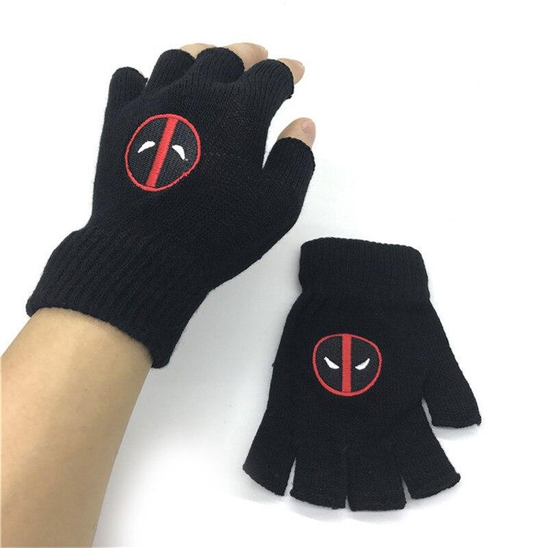 NEW Marvel Avengers Batman Deadpool Winter Glove Model Decoration Creative Keep Warm Toys Anime Gift For Kids