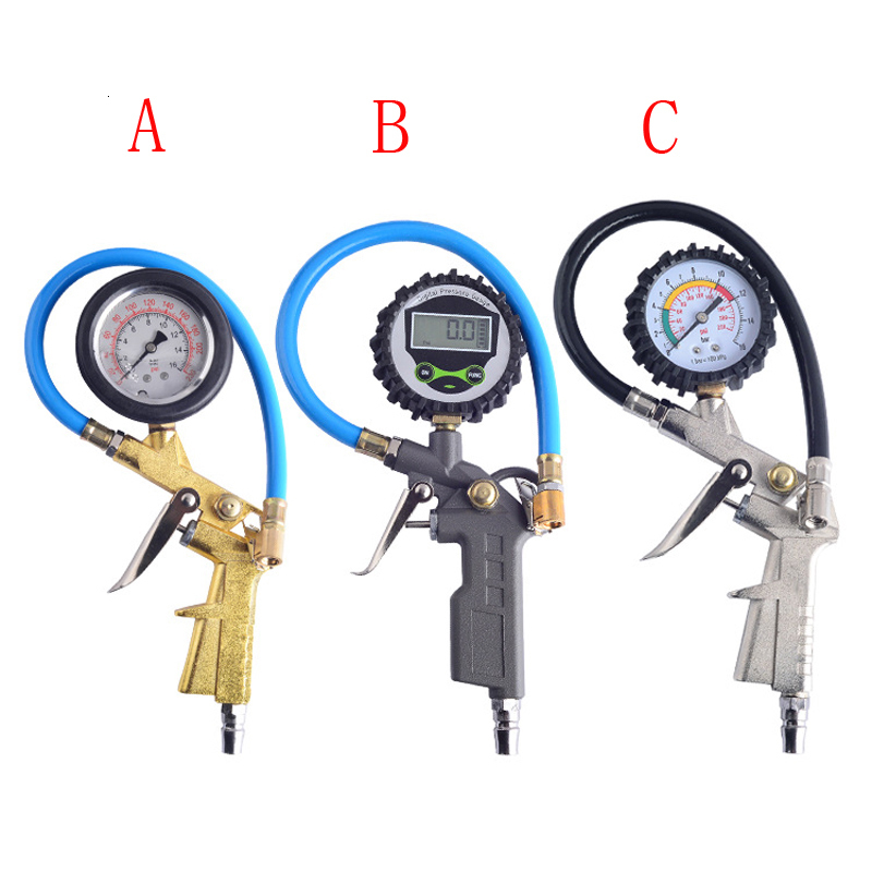 Car Tire Pressure Gauge Tire Pressure Gun Pressure Gauge Digital Tire Pressure Detection Table Pressure Gauge Filling Air Gun
