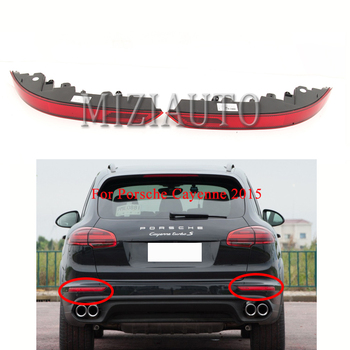 Left/Right LED Rear Bumper Reflector Light For Porsche Cayenne 2015 Tail Brake Stop light Red Car Styling Fog lamp