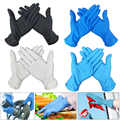 100PCS Black Disposable Gloves Latex Dishwashing Kitchen Medical Work Rubber Garden Gloves Universal For Left and Right Hand