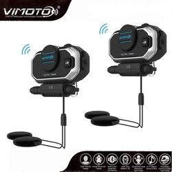 English Version Easy Rider Vimoto V8 Motorcycle Helmet Bluetooth Intercom Headset Noise Reduction Clear Sound For Phone MP3 GPS