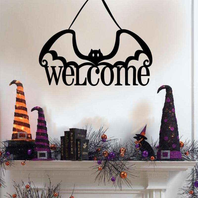 Halloween Non woven Door Wall Hanging Welcome Bat Ornaments Novelty and Beauty Fashionable and Lovely Festival Supplies in Party DIY Decorations from Home Garden