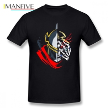 Anime Overlord Men T Shirt Summer Cool Oversize Cotton Custom Short Sleeve T-shirt