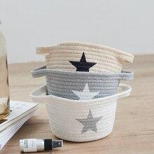 Handmade environmental protection cotton thread basket storage desktop debris new