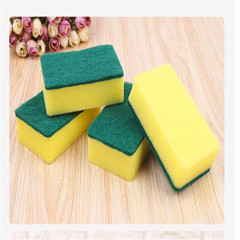 2 adet/paket mutfak malzemeleri sünger güçlü dekontaminasyon yüksek yoğunluklu bulaşık yıkama sürtünme artefakt ovma 10*7*3CM