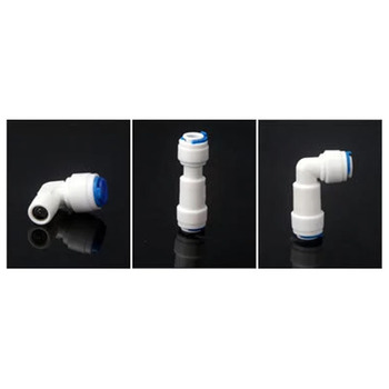 """RO Локоть воды/равный прямой обратный клапан быстрое соединение фитинг 1/4 """"OD шланг система обратного осмоса пластиковый соединитель трубы"""