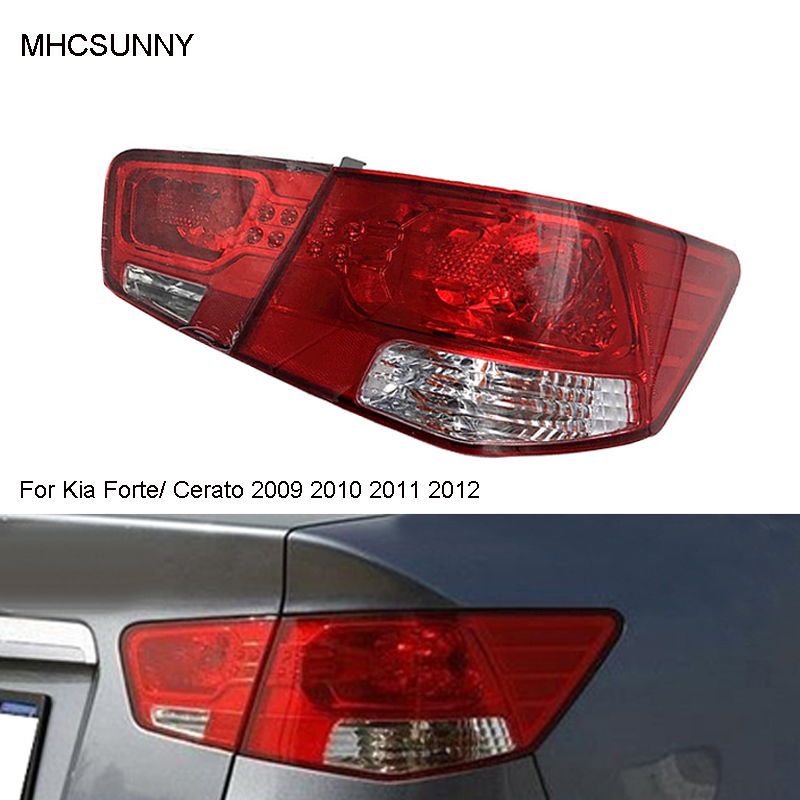 Задний светильник для Kia Forte/Cerato 2009 2010 2011 2012, автомобильный светильник в сборе, автомобильный Предупреждение ющий бампер, светильник