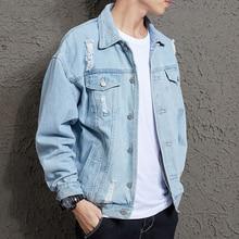 2019 Men for Slim  Denim Jacket Mens Casual Bomber Hip Hop Men\s Retro Streetwear Designer Coat