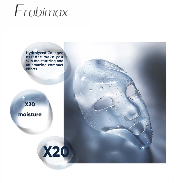 【Buy 3 Get 3 Free】Erabimax Moisturizing Facial Mask Skin Care Face Mask Collage Hydrogel for Day Night Care Hydration Repair 2