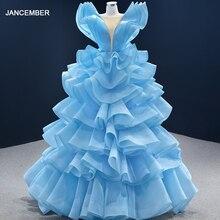 J67202 женское разноцветное синее платье для выпускного вечера