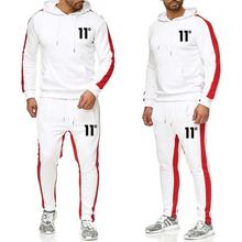 New sportswear mens suit fleece hooded spring and autumn winter hoodie + pants