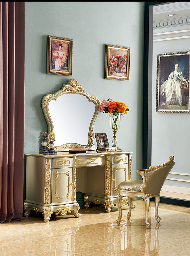 Image of: Dressers Makeup Vanity Table With Mirror Luxury Classic Antique Master Bedroom Furniture Muebles De Dormitorio Bedroom Sets Aliexpress