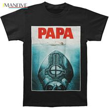 Authentic Ghost Band Papa Emeritus Ii Jaws Logo T Shirt New Summer Short Sleeves Cotton Top Tee Western Style