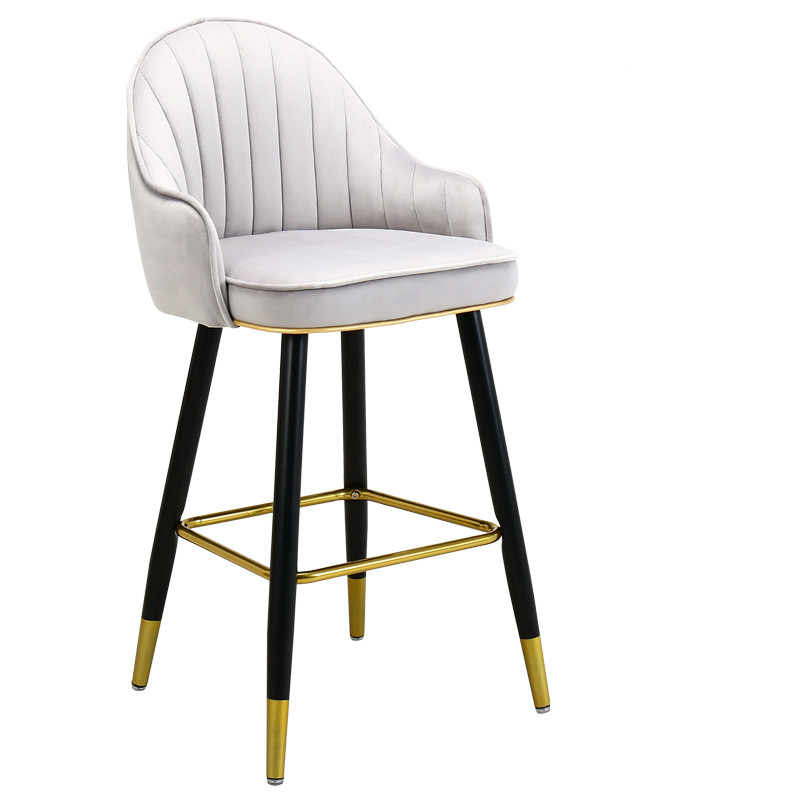 Light Luxury Solid Wood Bar Chair American High  Nordic   Fashion Modern Italian Home  Stool