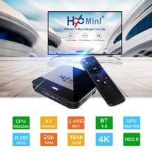 H96 4K Hdtv Box 1080P Android Tv Box RK3328A Android 9.0 Smart Set Top Box RK3328A Quad Core media Player Ondersteuning 3D Hdmi Iptv(China)
