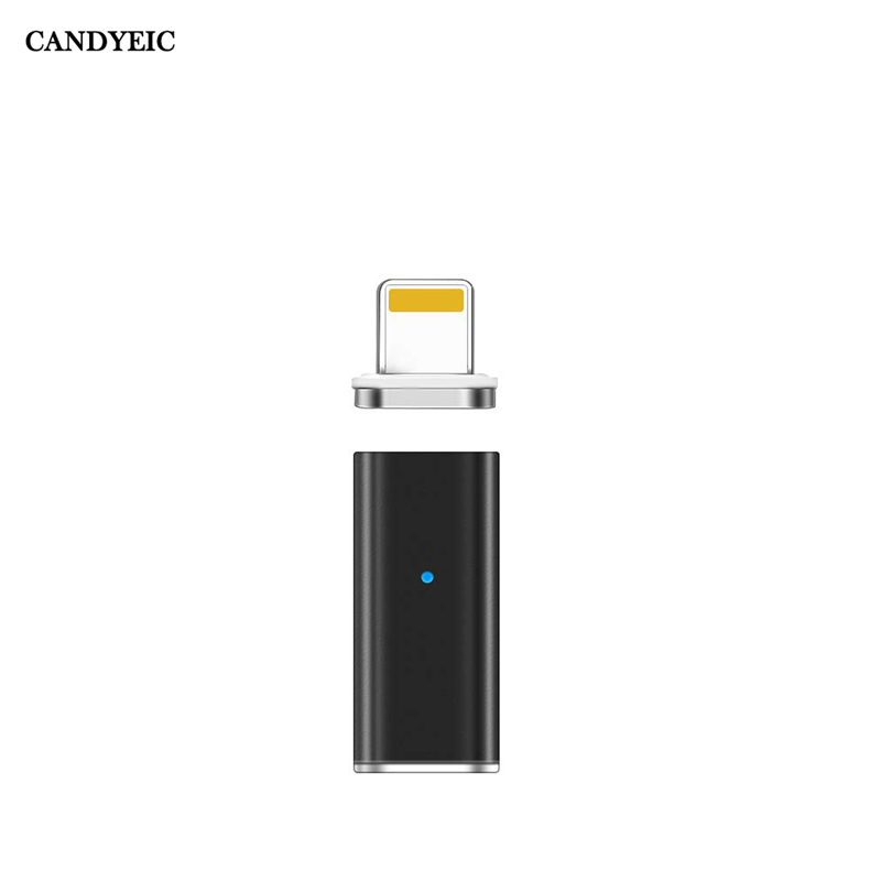 CANDYEIC Magnetic Adapter For IPhone Device Magnetic Charger For IPhone 12 11 Pro Max 8 7Plus 6s Plus SE XR XS Max Adapter
