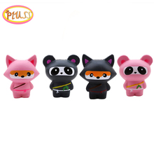 Cute Cartoon Ninja Fox Panda Animals Squishy Slow Rising Squishies Squeeze Scented Soft Toys Stress Relief Toy
