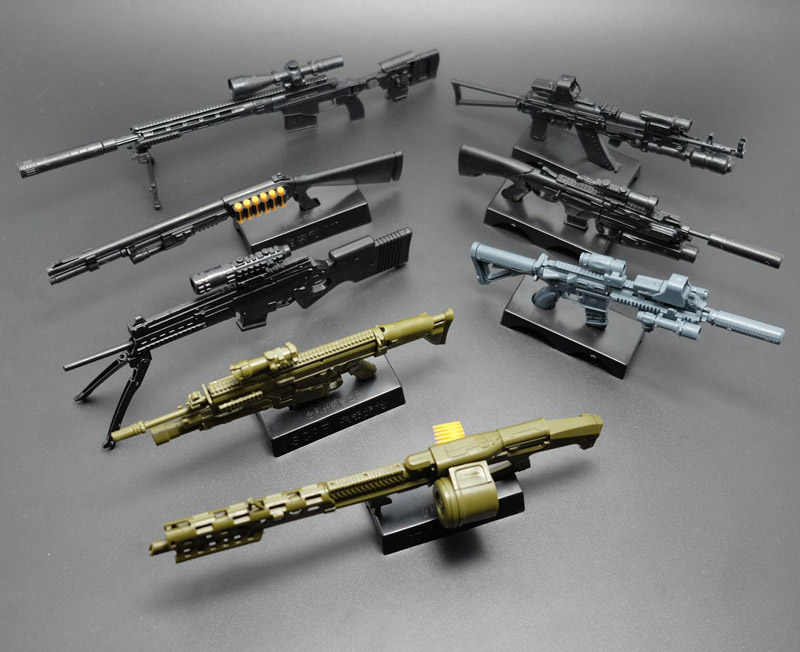 1:6 escala Montada Modelo de Arma Armas FN Scar HK416 74 AK Rifle Sniper Metralhadoras Simulação Militar Brinquedos Cor Aleatória
