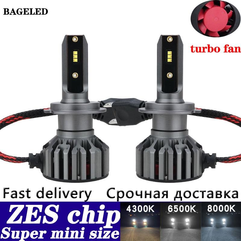 ZES чип H7 светодиодный автомобильные лампы для фар машины мини H4 светодиодный H11 H8 HB4 H1 H3 HB3 9005 9006 880 881 H27 20000LM светодиодный автомобильный светил...