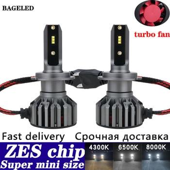 ZES chip H7 LED Auto Car Headlight Bulbs Mini H4 LED H11 H8 HB4 H1 H3 HB3 9005 9006 880 881 H27 12000LM LED lamp for automobile