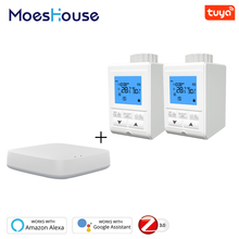 Zigbee Smart TRV Thermostatic Radiator Valve Controller Thermostat Temperature Tuya APP Control Works with Alexa Google Home цена и фото