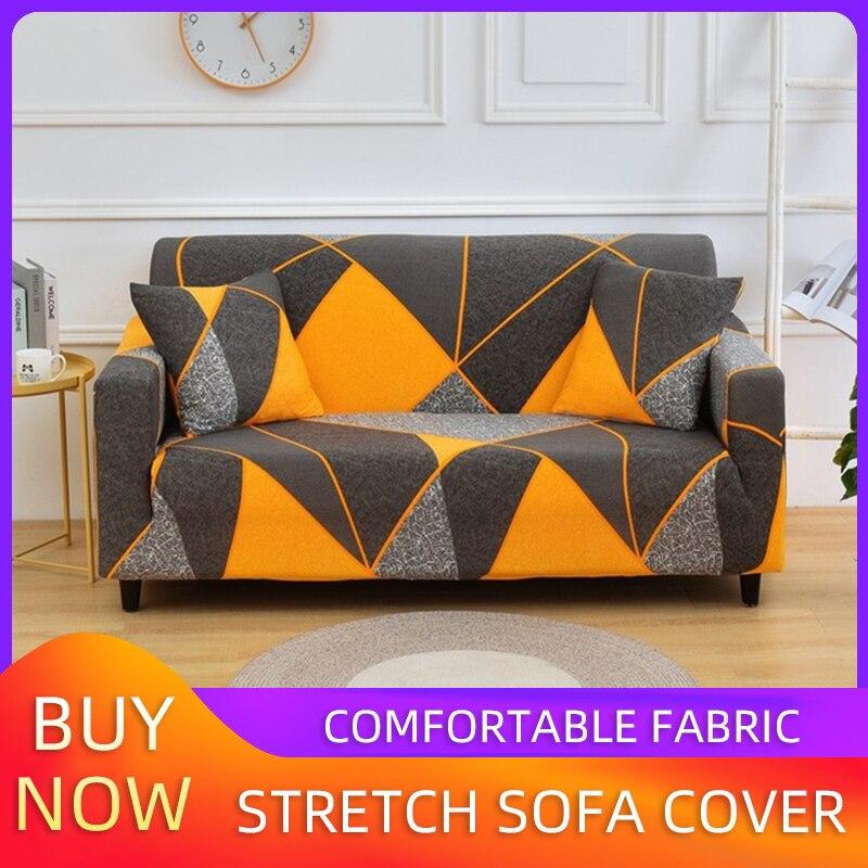 Sofa Cover Elastic Combination Non-slip Sofa Cover Living Room Sofa Cover L-shaped Armchair Cover Single / Double / Three