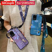 SoCouple Support de Téléphone Pour Samsung Galaxy A51 50 71 70 20 30 21 s 12 52 72 S21 S20 FE S10 S9 Plus Dragonne Lanière Cas
