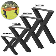 Brackets Desk-Legs Bench Tabletop Dining Steel Metal Heavy-Duty DIY VEVOR 2pcs X-Shape