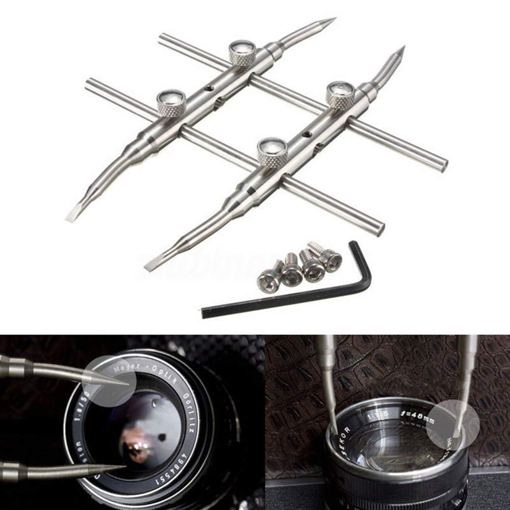 Hand Tool Pro Durable Stainless Steel DSLR Camera Lens Repair Kit Spanner Wrench Open Home  Tools