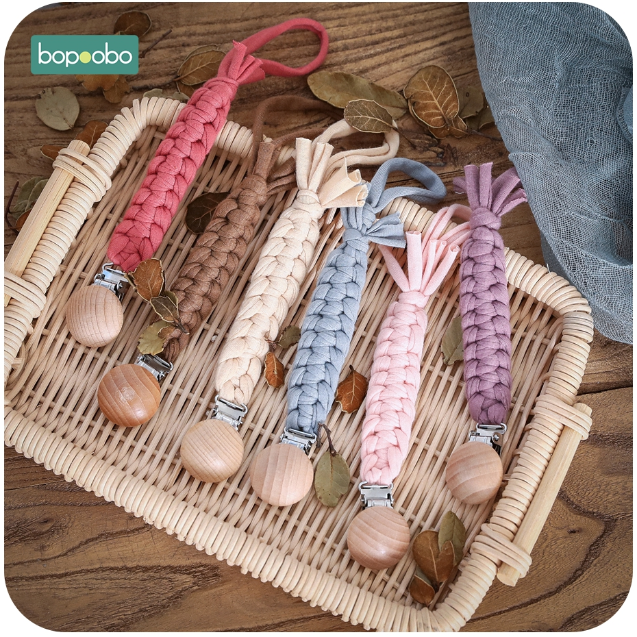 Bopoobo 1pc Baby Pacifier Clip Chain Dummy Clip Pacifier Holder Braided Clip Nipple Holder Soother Chain For Infant Baby Feeding