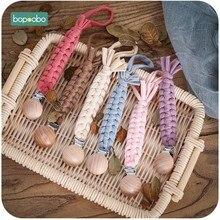 Bopoobo 1 adet bebek emzik klip zincir kukla klip emzik tutucu örgülü klip meme tutucu emzik zinciri bebek bebek besleme