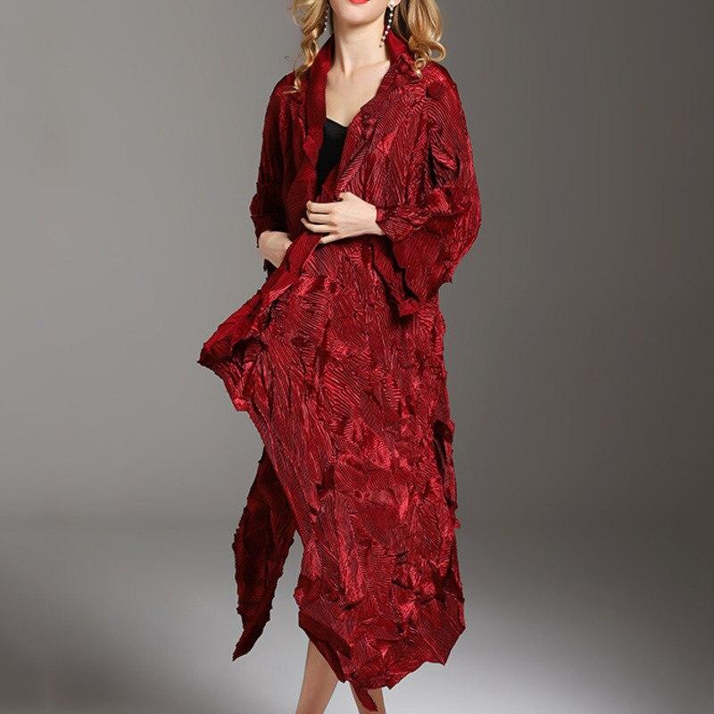 MEVGOHOT femme velours irrégularité froissé Long manteau rouge élégant volants Occasion spéciale plissé robe de soirée dames HD2739
